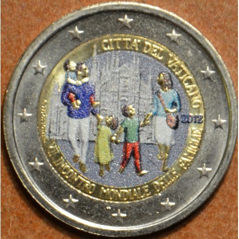 2 Euro Vatican 2012 - 7th  World Meeting of Families  (colored UNC)