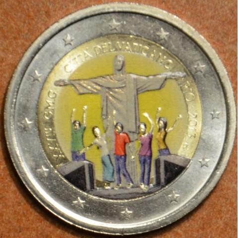 2 Euro Vatican 2013 - 28. World Youth day - Rio de Janeiro II. (colored UNC)