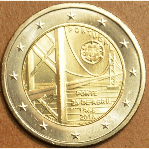 2 Euro Portugal 2016 - 50 years of the first bridge uniting the two riverbanks of the Tejo River (UNC)