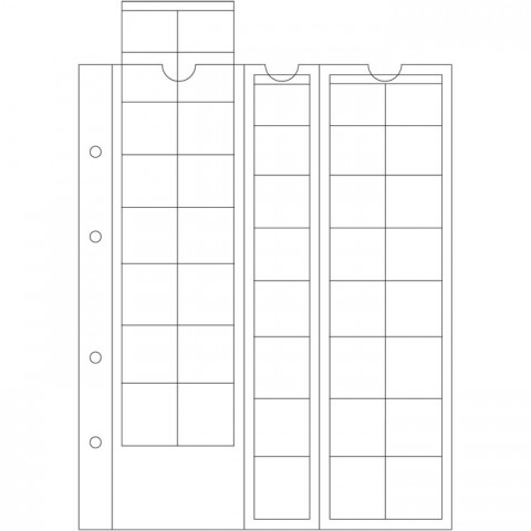 5 euroset sheets into Leuchtturm OPTIMA albums