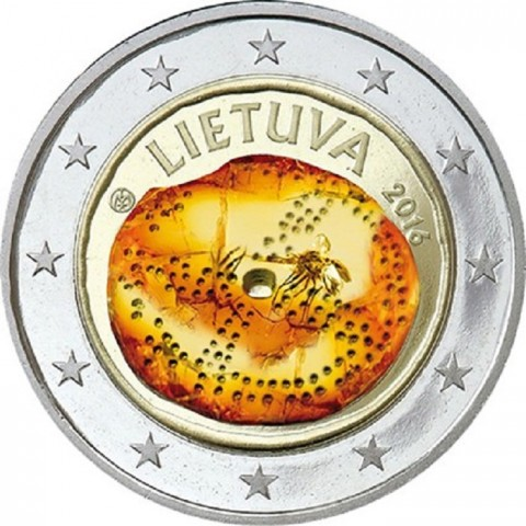 2 Euro Lithuania 2016 - Baltic culture IV. (colored UNC)