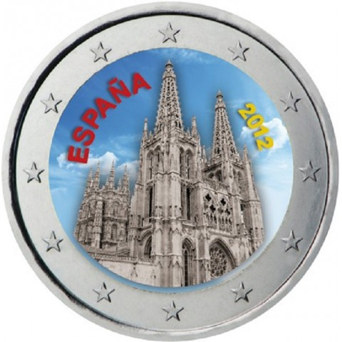 2 Euro Spain 2012 - The Burgos Cathedral II. (colored UNC)