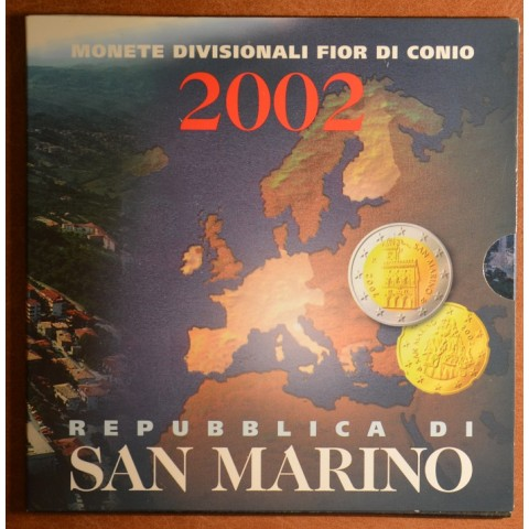 Set of 8 eurocoins San Marino 2002 (BU)