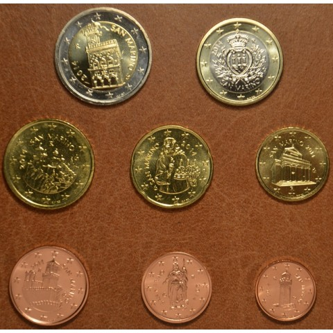 Set of 8 eurocoins San Marino 2014 (UNC)