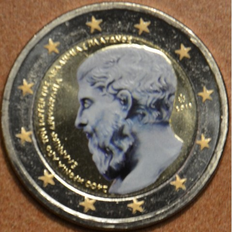 2 Euro Greece 2013 - The 2400th Anniversary of the founding of Plato's Academy III. (colored UNC)