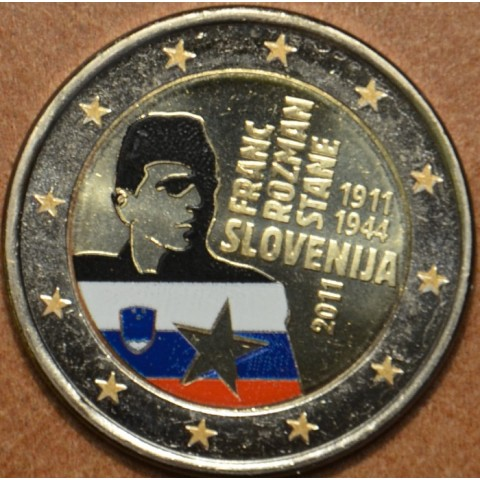 2 Euro Slovenia 2011 - 100th anniversary of the birth of Franc Rozman III. (colored UNC)