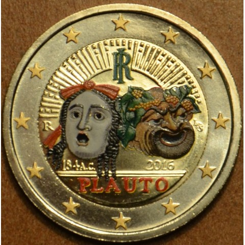 2 Euro Italy 2016 - 2200th anniversary of the death of Plautus  (colored UNC)