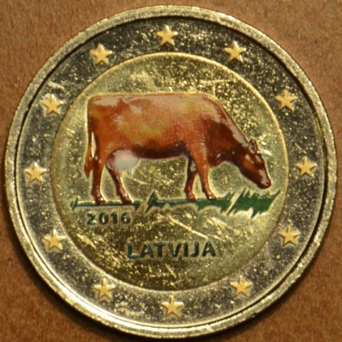 2 Euro Latvia 2016 - Latvian agricultural industry (colored UNC)