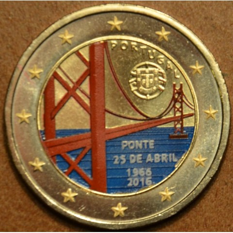 2 Euro Portugal 2016 - 50 years of the first bridge uniting the two riverbanks of the Tejo River (colored UNC)