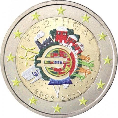 2 Euro Portugal 2012 - Ten years of Euro II. (colored UNC)