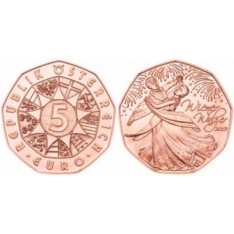 5 Euro Austria 2013 Wiener Walz (UNC)