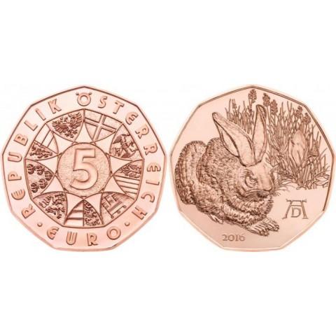 5 Euro Austria 2016 Rabbit (UNC)