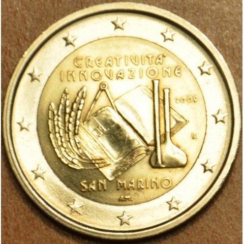 2 Euro San Marino 2009 - European Year of Creativity and Innovation  (UNC without folder)