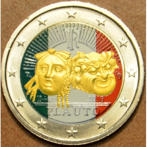 2 Euro Italy 2016 - 2200th anniversary of the death of Plautus II. (colored UNC)