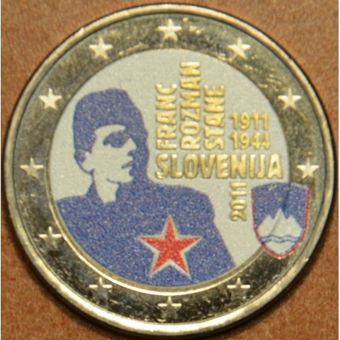 2 Euro Slovenia 2011 - 100th anniversary of the birth of Franc Rozman IV. (colored UNC)