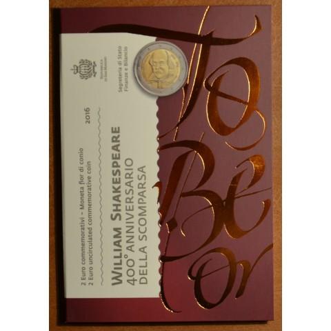 2 Euro San Marino 2016 - 400th anniversary of the death of William Shakespeare (BU)