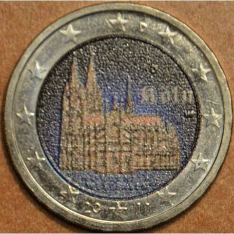 2 Euro Germany 2011 - North Rhine-Westphalia: Cathedral in Köln III. (colored UNC)