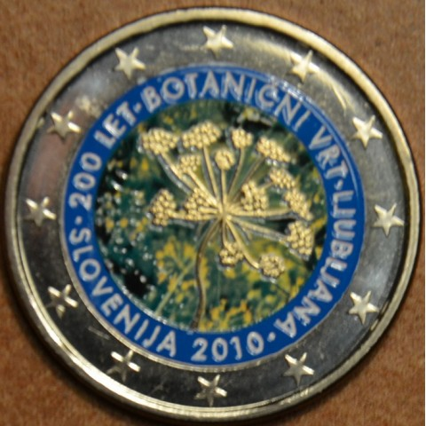 2 Euro Slovenia 2010 - 200th anniversary of the Botanical Garden in Ljubljana II. (colored UNC)