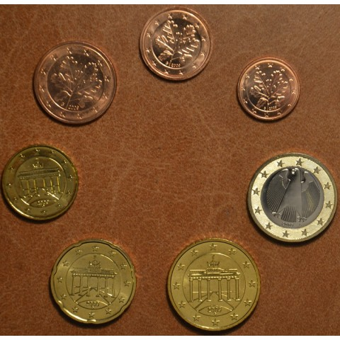 """Set of 7 coins Germany 2009 """"F"""" (UNC)"""