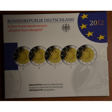 2 Euro Germany 2012 - Ten years of Euro  (Proof)