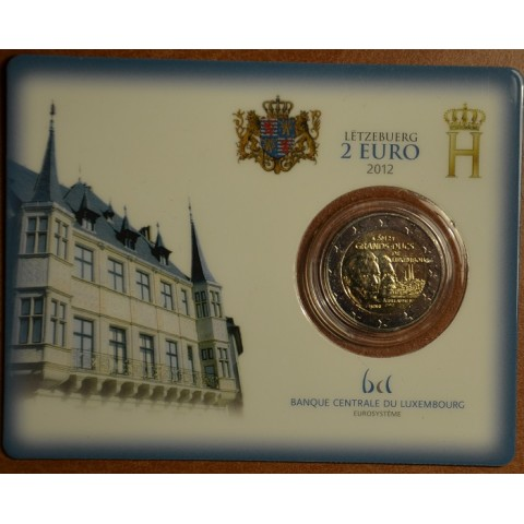 2 Euro Luxembourg 2012 -100th Anniversary of the death of the William IV. (BU card)