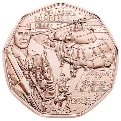5 Euro Austria 2015 Austrian armed forces (UNC)