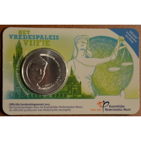 5 Euro Netherlands 2013 Palace of peace (UNC card)