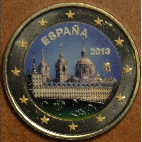 2 Euro Spain 2013 - The Royal Seat of San Lorenzo de El Escorial II. (colored UNC)