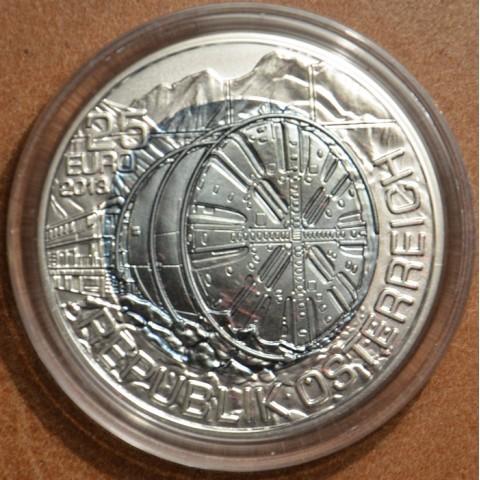 25 Euro Austria 2013 - silver niobium coin Tunnelbau