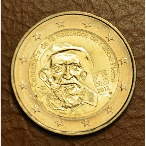 2 Euro France 2012 - 100th Anniversary of Abbé Pierre's birth (UNC)