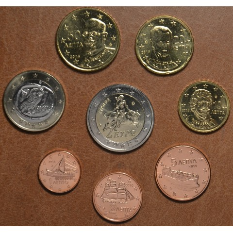 Set of 8 eurocoins Greece 2014 (UNC)
