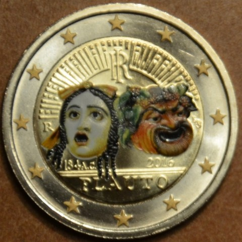 2 Euro Italy 2016 - 2200th anniversary of the death of Plautus IV.  (colored UNC)