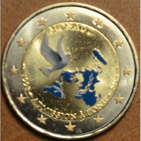 2 Euro Monaco 2013 - 20th Anniversary of UN Membership IV. (colored UNC)