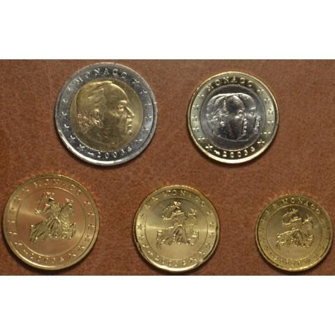 Set of 5 eurocoins Monaco 2003 (UNC)