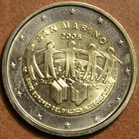 2 Euro San Marino 2008 - European Year of Intercultural Dialogue (wo folder)