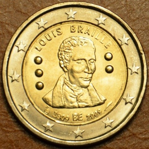 2 Euro Belgium 2009 - 200th Anniversary of birth of Louis Braille (UNC)