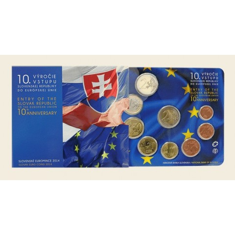 "Set of Slovak coins 2014 ""The 10th anniversary of entry of the SR to the EU"""