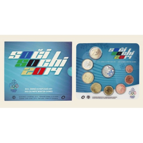 "Set of Slovak coins 2014 ""Sochi"""