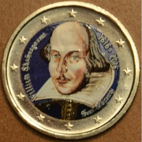 2 Euro San Marino 2016 - 400th anniversary of the death of William Shakespeare (colored UNC)