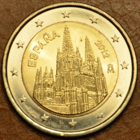 2 Euro Spain 2012 - The Burgos Cathedral  (UNC)