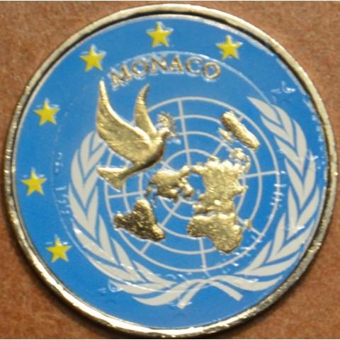 2 Euro Monaco 2013 - 20th Anniversary of UN Membership (colored UNC)