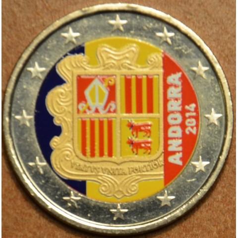 2 Euro Andorra 2014 IV. (colored UNC)