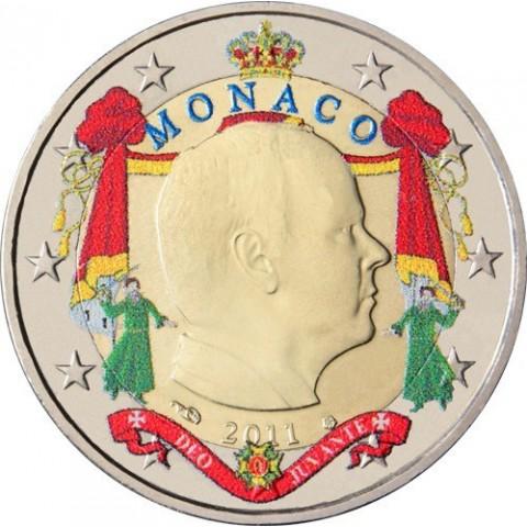 2 Euro Monaco 2011 Albert  (colored UNC)