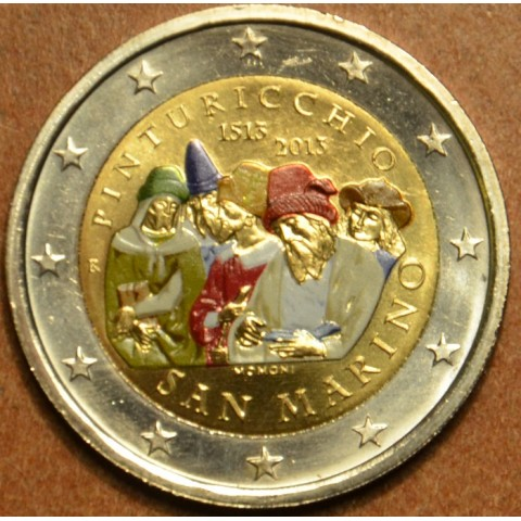 2 Euro San Marino 2013 - The 500th Anniversary of the Death of Malers Pinturicchio (colored BU)