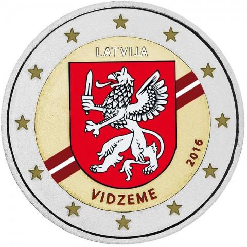 2 Euro Latvia 2016 - Vidzeme (colored UNC)