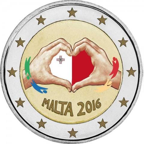 2 Euro Malta 2016 - Love (colored UNC)