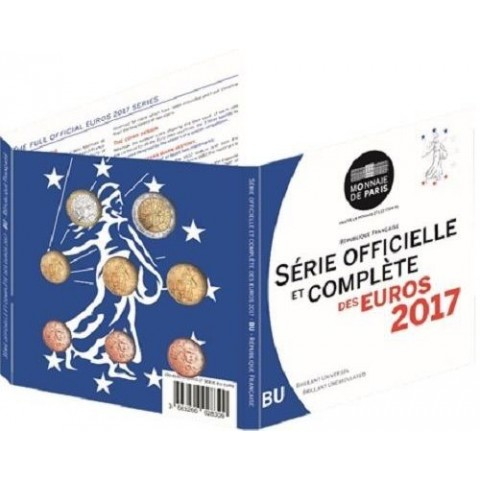Set of 8 eurocoins France 2017 (BU)