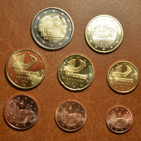 Set of 8 Euro coins Andorra 2014 (UNC)