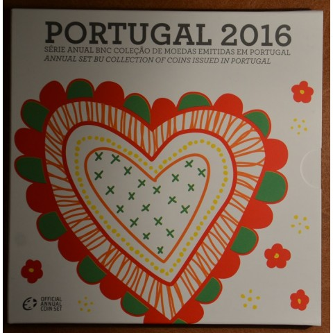 Set of 8 coins Portugal 2016 (BU)