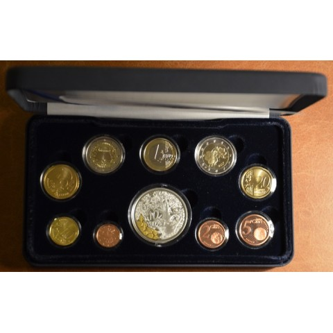 Set of 10 eurocoins Finland 2007 (Proof)